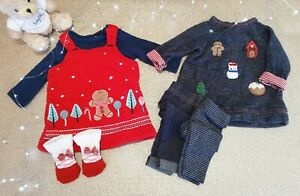 Baby Girl Winter Clothing Bundle Including Next Tu & F&F Age Up To 1 Month