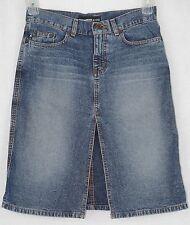 Express Jeans Women's Slit-Front Knee Length Full Skirt Size 3/4