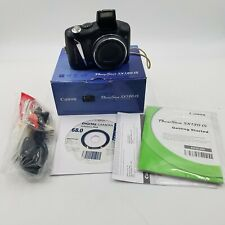 Canon PowerShot SX130 IS, 12.1MP, Digital Camera, Black, Tested & Works