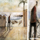 """23W""""x34H"""" TRES BARCAS by DIDIER LOURENCO - BEACH BOATS BICYCLE PALM TREES CANVAS"""
