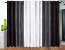 Half Price Eyelet curtains Ring Top curtains Fully Chenille Grey black white