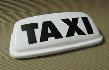 "Taxi Roof Sign Magnetic Top Sign 19"" White LED lights ECONOMY LETTERCRAFT"