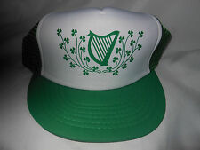 ST. PATRICKS CAP/WITH SHAMROCKS AND A HARP DESIGN (ADJUSTABLE)