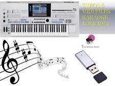 MIDI File Karaoke USB stick for Tyros 5 Vol 1