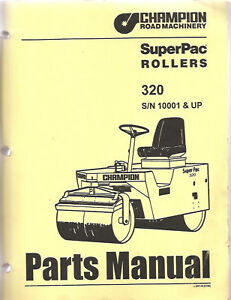 Champion SuperPac 320 Roller Parts Manual