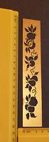 Brass/stencil/Border/Fruit/Apple/Pear/Emboss/Embossing/Leaf