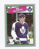 RARE 1988-89 OPC # G LEAFS ED OLCZYK  BOX BOTTOM EX-MT CARD