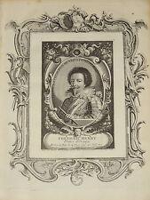 Gravure Portrait XVIII FREDERIC HENRI PRINCE ORANGE NASSAU HOLLANDE LOUIS XIV