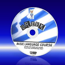 SPEAK GREEK PC CD LANGUAGE COURSE EASY TO LEARN BEGINNER PROGRAM MP3 + TEXT NEW