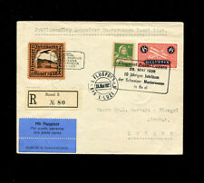 Switzerland  1926 Airmail Flight Basel Mustermesse Jubilee  with rare vignette