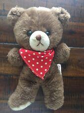 Rare Russ Berrie Teddy Bear Vintage Korea 500 Plush Stuffed Animal Red Bandana
