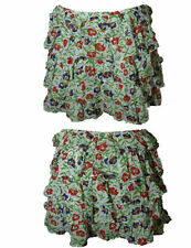 Cotton Floral Regular Size Asymmetrical Skirts for Women