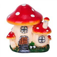 statue Mushroom House Resin Crafts Mini Fairy Garden Decor DIY Ornament Landscap