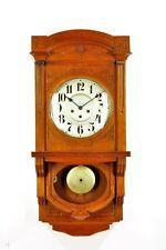 Antique German Art Nouveau Junghans Spring Driven Wall Clock Berliner Style 1920