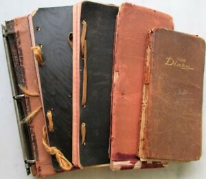 Diary 1910-30s FIVE Diaries w/Intricate Notes, Handwritten