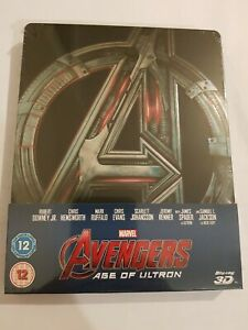 Avengers Age Of Ultron 3D BLU RAY STEELBOOK UK Release NEW & SEALED