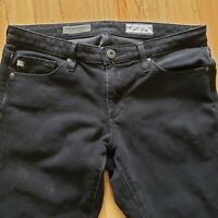 AG Adriano Goldschmied Womens 360 Contour Skinny Ankle Jeans Black Size 26