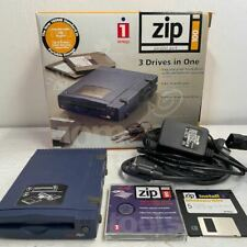 Iomega Zip Disc/Disk Drive - Parallel Port - Fully Working - Boxed / Complete