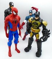 """Marvel Captain American Spider-man BatMan heroes 13"""" Action Figure Toy Lot of 4"""