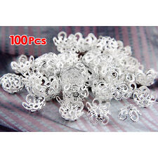 100 x 10 mm Metal Bead Spacer Silver Plated Spacer Beads SH