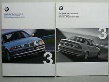 Prospekt BMW 3er E46 Lim.(316i,318i,320i,323i,328i,320/330d),2.1999,72S.+Preise