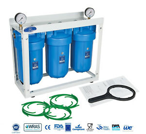 """Aquafilter 10"""" Big Blue BB 3-Stage Whole House Water Filter System Housing"""