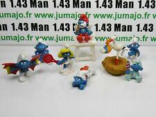 LOT1 Figurine PVC schleich : 7 SCHTROUMPF smurf puffi pituffo
