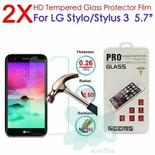 2Pcs Premium Tempered Glass Screen Protector For LG G Stylo 3 / M400N / Stylus 3