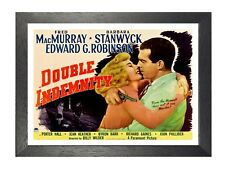 Double Indemnity Movie MacMurray Stanwyck Picture Film Noir Advert Retro Poster