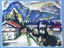 1v5: Aquarell Gemälde Landschaft Tegernsee Verschollene Generation Maria Helwig