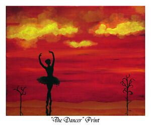 """""""Dancer"""", Print of oil painting by Robert Marquiss, white border, no frame"""
