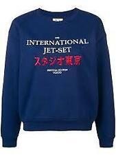 Zoe Karssen International Jet-Set Tokyo Medieval Blue sweatshirt  M BNWT Soft