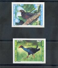 NEW CALEDONIA Sc 533-4(YT 510a-11a)**VF NH 1986 BIRDS OF NEW CALED., IMPERF $30