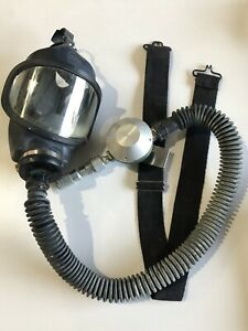 MSA Full Face Forced Air M2C2 Respirator Mask w/ 462284 Cartridge, New Old Stock