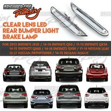 FIT INFINITI QX30/60/80 REAR BUMPER REFLECTOR RED 3D LED BRAKE LIGHTS CLEAR LENS