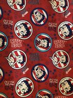 Betty Boop Red White & Boop FQ Fabric 18 x 21 New