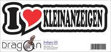 INDIGOS Aufkleber - I love Heart - Herz - KLEINANZEIGEN - 15 cm DE624