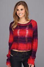 Fox Racing Womens Glimmer Crop Sweater Dark Red Size M