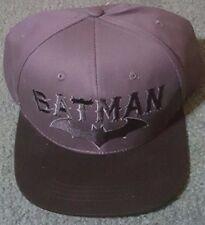 DC COMICS BATMAN GREY W/ BLACK LOGO SNAPBACK HAT CAP BASEBALL LOGO NWT FREE SHIP