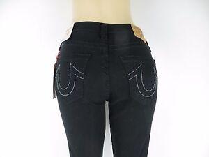 NWT True Religion Curvy Skinny Ripped Torn, Black Ripped, Size 28, Retail $229