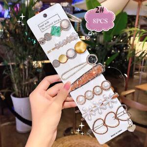 Women Pearl Hair Clip Snap Barrette Stick Hairpin Hair Accessories Popular Gift*