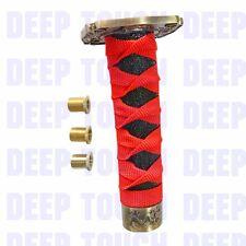 Zinc alloy RE+BK Samurai Sword Shift Knob metal Shift Katana Sport Adapters 15cm