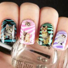 1 Sheet Nail Art Manicure Water Decals Transfers Sticker Cat Duck Flower Pattern