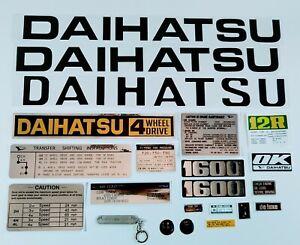 DAIHATSU F20 TAFT WILDCAT DECALS stickers (4 speed shift plate)