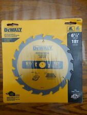 DEWALT DW9155 6 1/2 inches 18T Construction Carbide Woodcutting Blade NEW SEALED