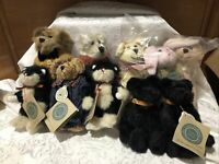 Lot Of 10 Boyds Bears Plush Jointed Retired Collection W/Tags Bear Lamb Rabbit
