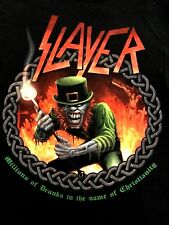 Slayer Shirt Vtg Tour Metallica Pantera Megadeth Exodus Testament Maiden Sabbath
