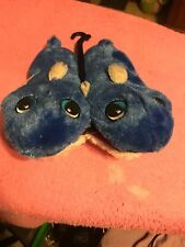 Toddler Boys Shark Bite Slippers House Shoes Plush Blue Small 5/6 New