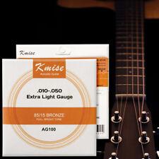 Acoustic Guitar Strings Phosphor Bronze Extra Light Gauge 0.01-0.05 inch AG100