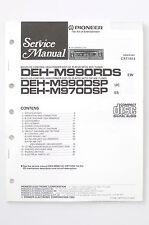 PIONEER DEH-M990RDS DEH-M990/M970 DSP Original Service-Manual/Schaltplan! o67